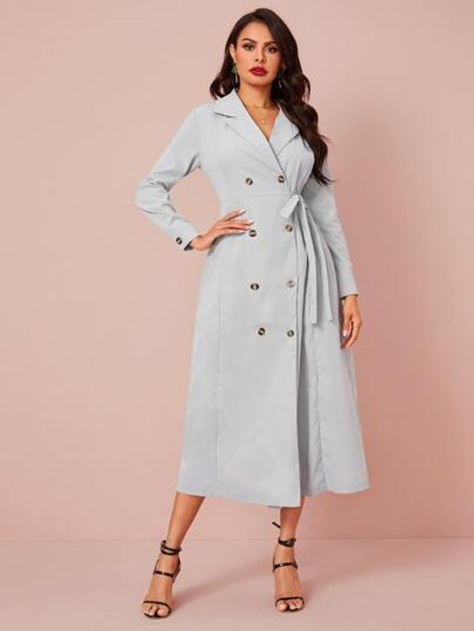 Double Breasted Knot Side Dress