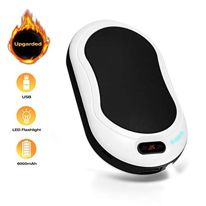 Electric Portable Pocket Hand Warmer/Power Bank - £11.98 with Code