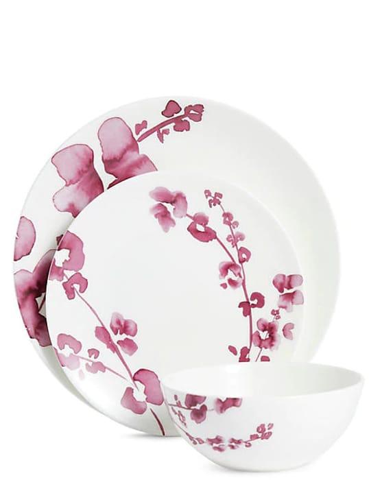 12 Piece Violet Floral Box Set