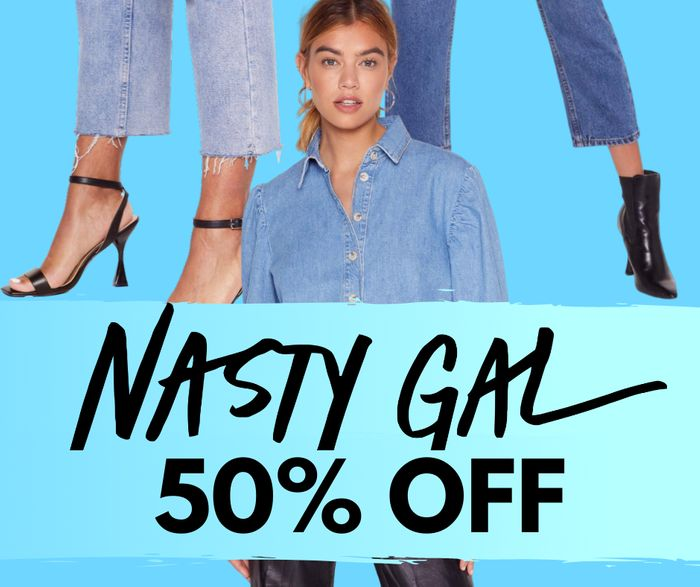 50% off EVERYTHING at NastyGal - including Sale Items!