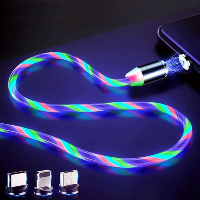 Free LED Glow Universal 3 in 1 Fast Charge Cable