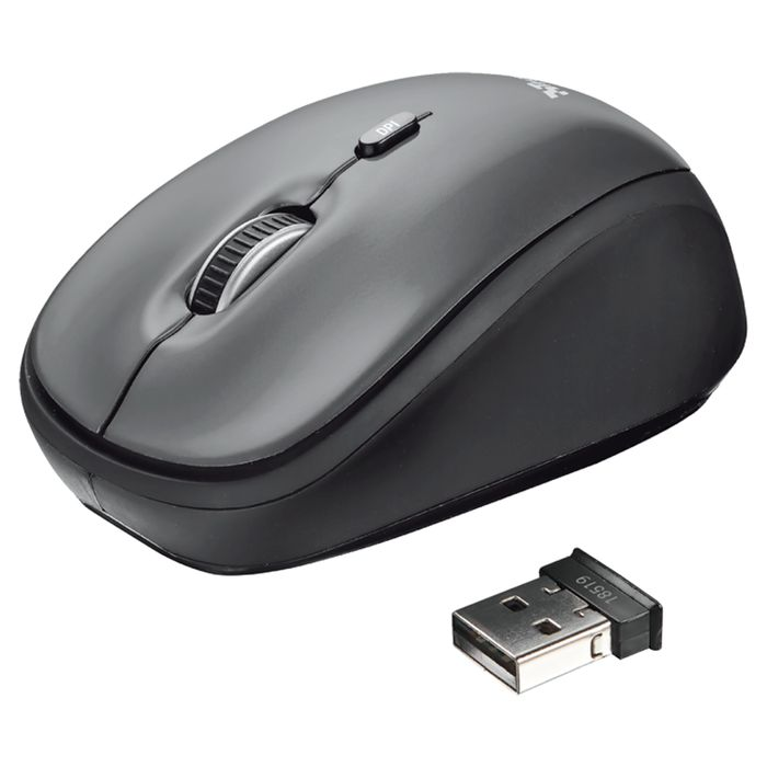 Trust Yvi Wireless Mouse Grey Or Red *ONLY £3