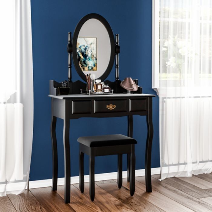 Nishano Dressing Table with Drawer, Mirror & Stool £47.96 Delivered!
