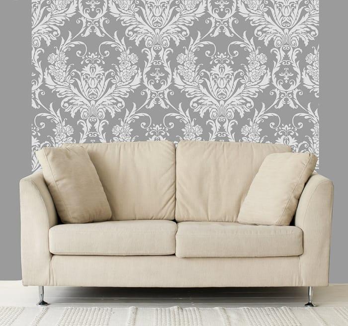 Debona Medina Damask Wallpaper - Silver