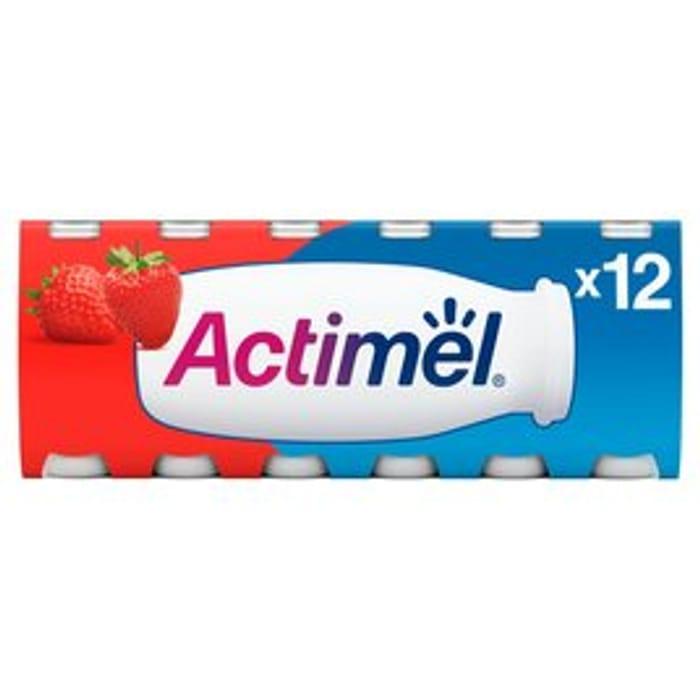 Actimel Strawberry Drinking Yogurts 12 X 100g
