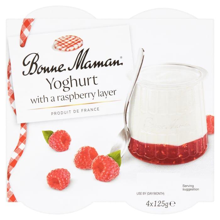Save £1 On Bonne Maman Yogurt With Raspberry Or Rhubarb Layer *4 X 125G