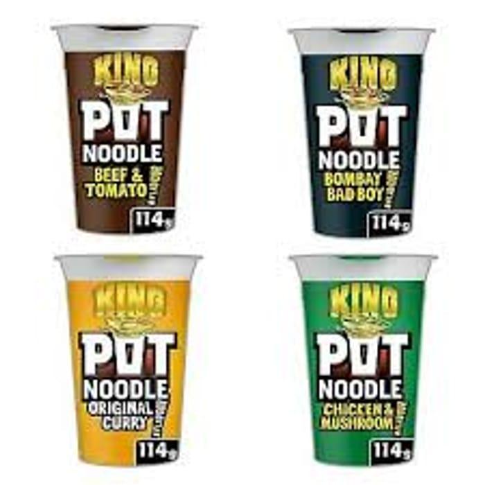 King Pot Noodles 114g (All Flavours)