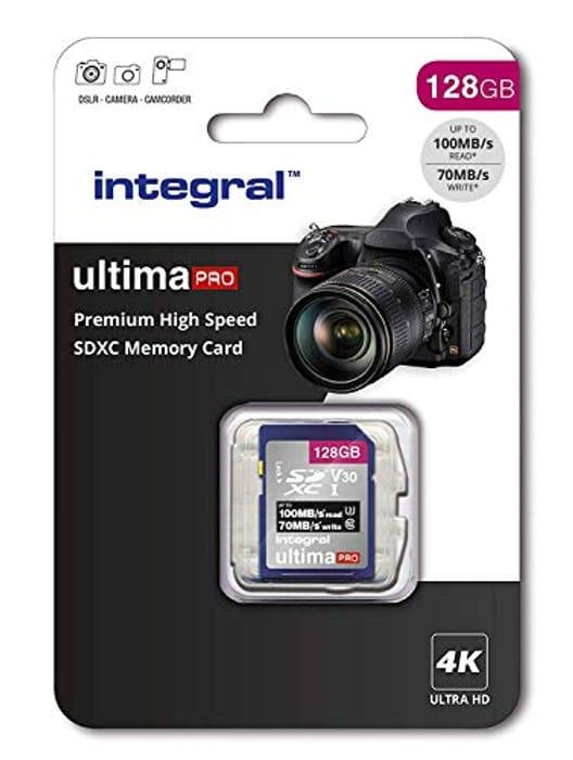 128Gb SD Card 4K Ultra-HD Video Premium High Speed Memory Card SDXC
