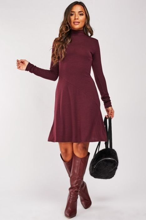 Long Sleeve Spiral Cut Panel Dress for £5!