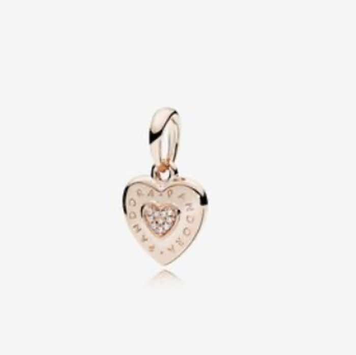 Best Price! PANDORA Rose Logo Heart Necklace Pendant