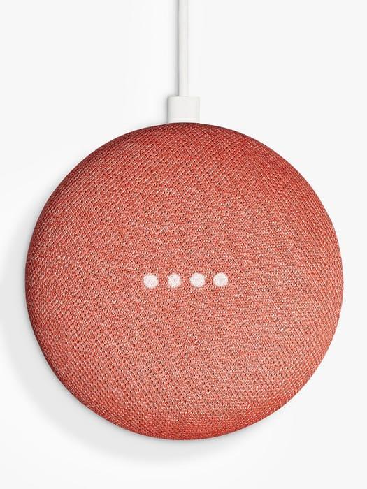 *SAVE £20* Google Home Mini Hands-Free Smart Speaker, Coral