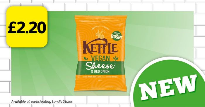 Vegan KETTLE Chips at £2.20