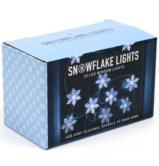 20 LED Snowflake Lights