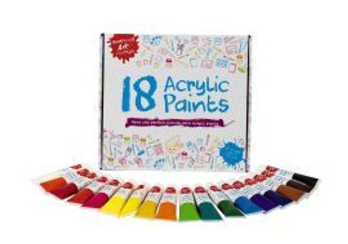 Best Price! Art Essentials: Complete Acrylic Paints Starter Set of 18 36ml Tubes