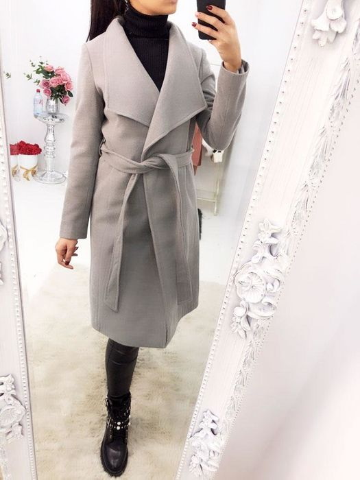 Jones Tailored Wrap Tie Waist Long Pea Coat Down From £69.99 to £37.99