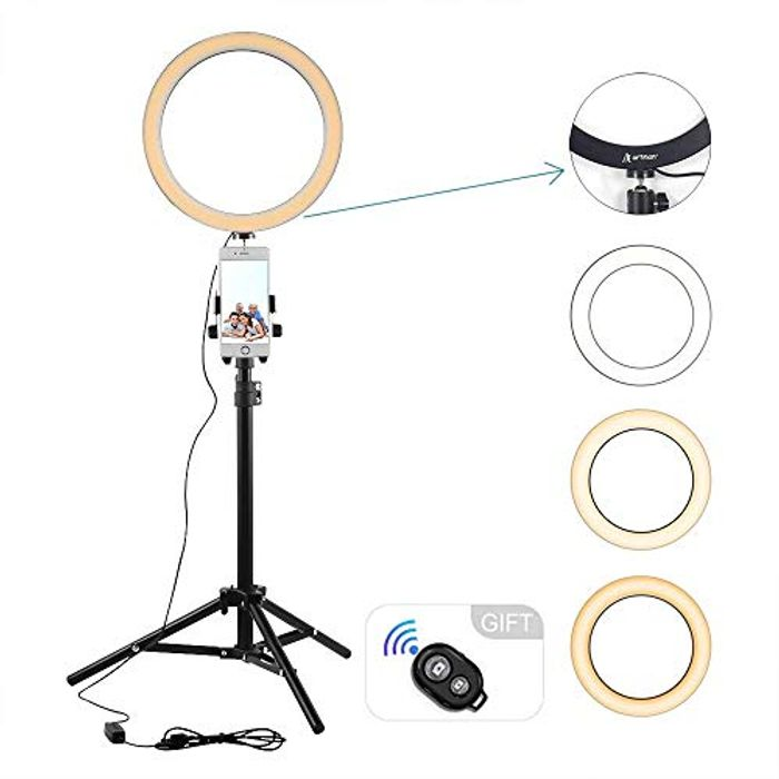 "10.2"" LED Selfie Ring Light Down From £25.99 to £12.99"