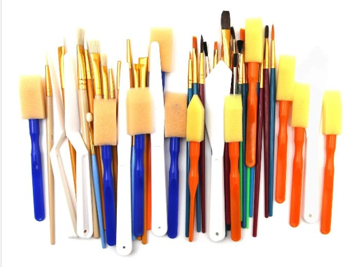 Mixed Media Brushes 50 Pack
