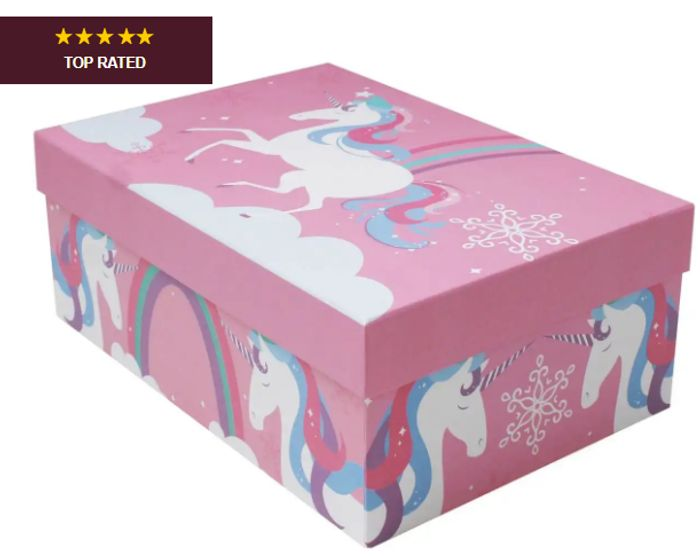 Unicorns Gift Box 28.4cm X 19.8cm