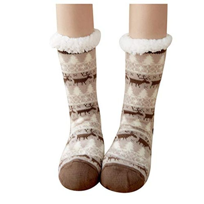 Cheap Fluffy Non Slip Ladies Winter Socks with 43% Discount - Great buy!