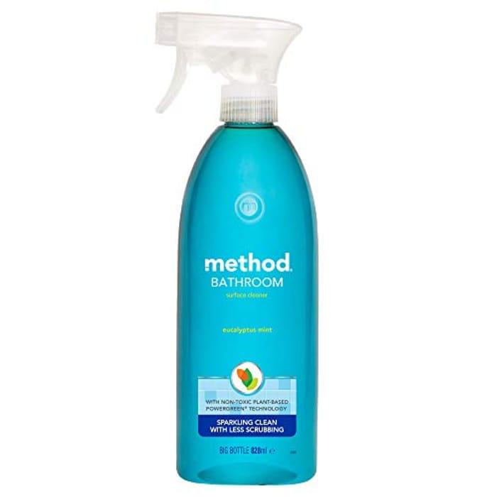 Cheap Method Bathroom Cleaner Spray 828 Ml (Pack of 8), Only £16!