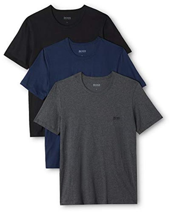 BOSS Men's T-Shirt Rn Co (Pack of 3) - Save £7.99!