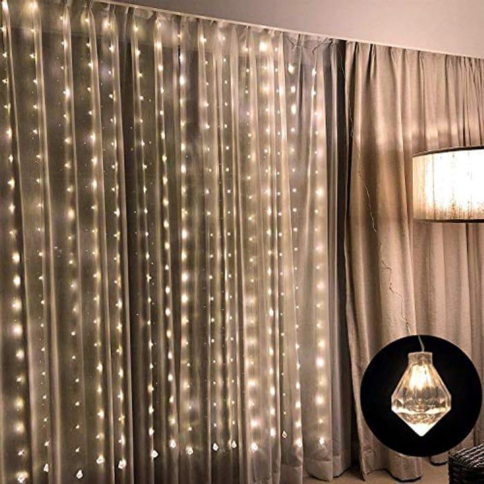 Linkind LED Curtain String Lights - Save £12!