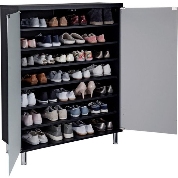 Argos Home Milan Frosted Glass Door Shoe Cabinet - Black Only £120.6