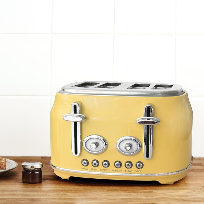 Retro Yellow 4 Slice Toaster or Kettle on Sale From £40 to £28