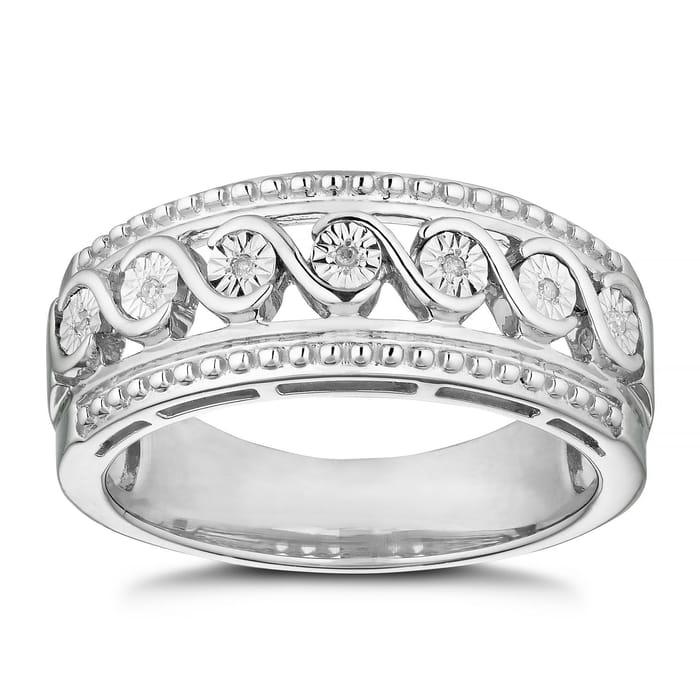 Silver Diamond Eternity Ring with HUGE £100 Saving
