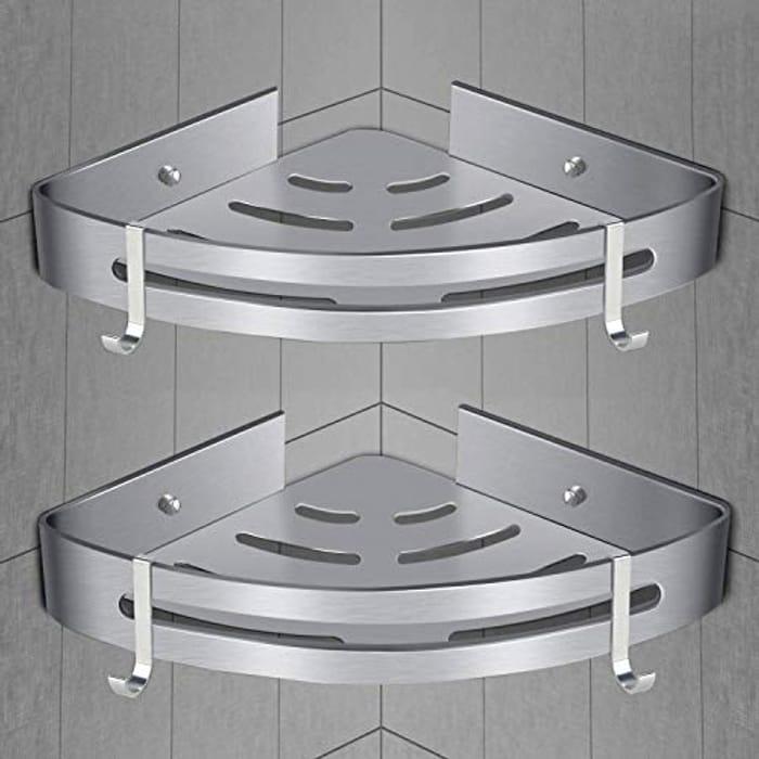 Bathroom Corner Shelves [2 Pack] Bath Shower Caddy Corner Storage Shelf
