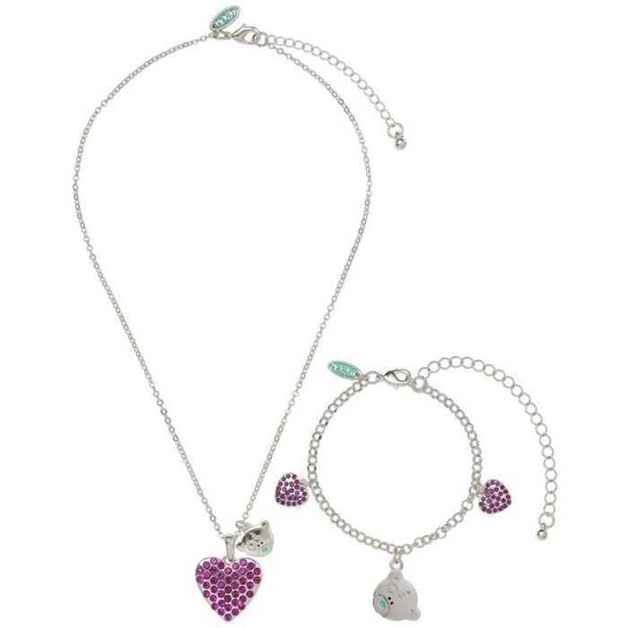 Me to You Pendant and Charm Bracelet Set