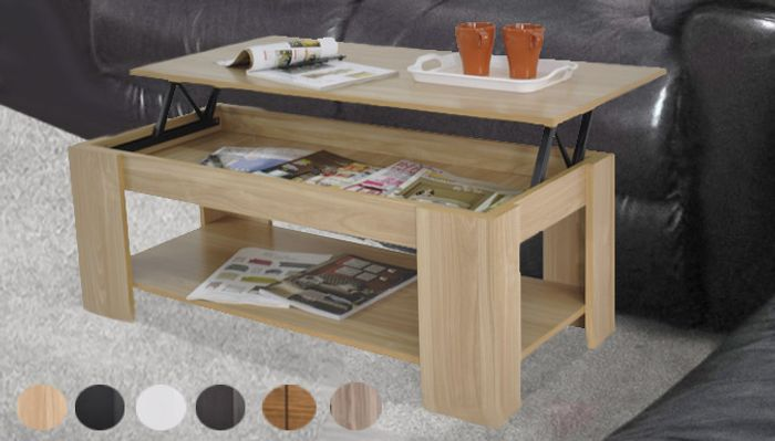 Lift-up Coffee Table - 5 Colours