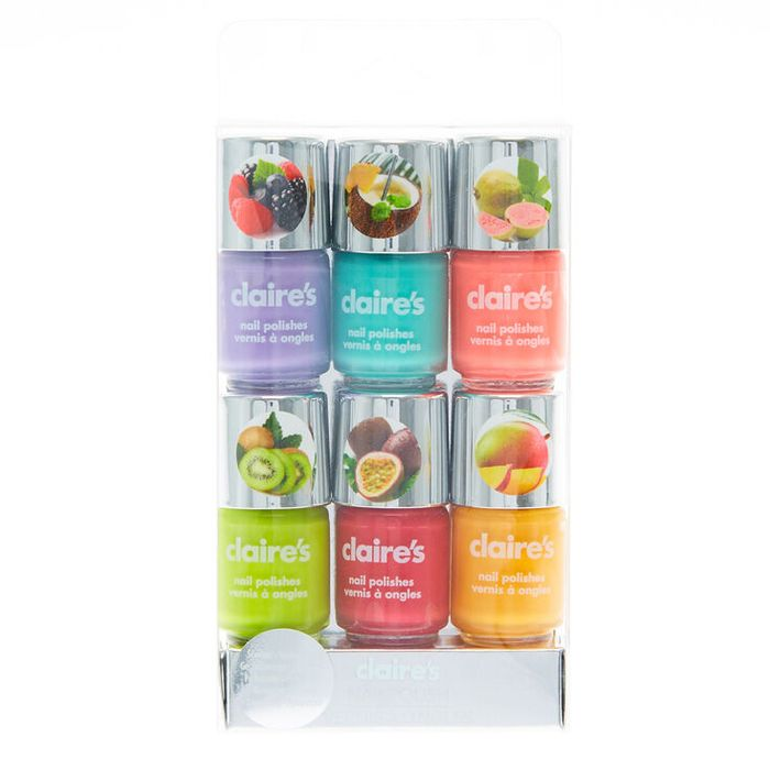 Neon Fruit Scented Nail Polish - 6 Pack
