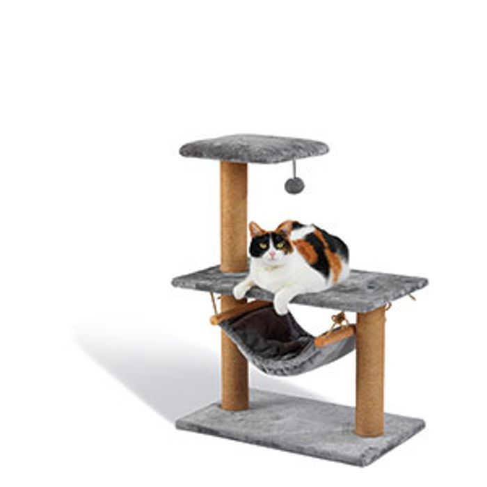 Best Price! Pets at Home Hudson Hammock Cat Tower Grey