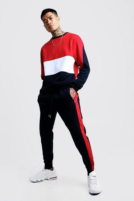 Colour Block Sweater Tracksuit