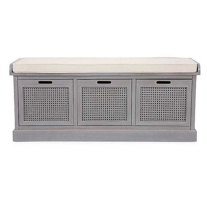 Cane Grey Storage Bench Down From £149 to £119.2