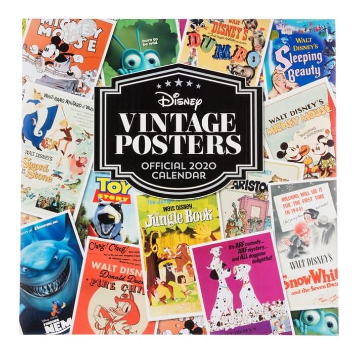 Disney Vintage Posters Official 2020 Square Calendar