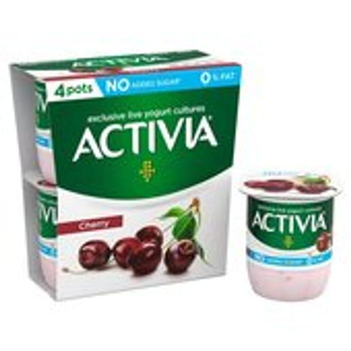 Activia 4 X Yogurts (4 Varieties) £1.00 (0.30p via Checkoutsmart after Cashback)