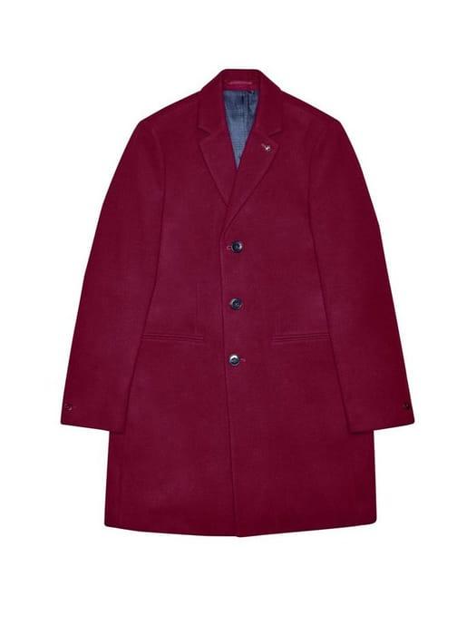 Burton Cherryade Faux Wool Overcoat - Save £40!