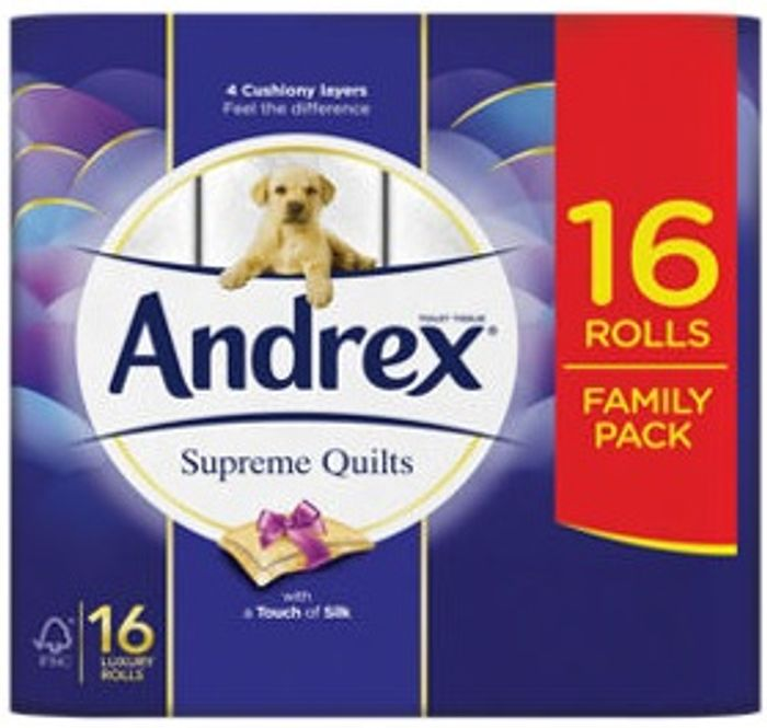 Andrex Supreme Quilts Toilet Roll 16 Rolls - 31% Off!