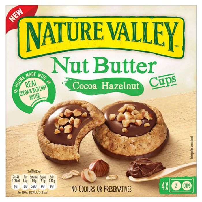 Nature Valley Nut Butter Cocoa Hazelnut Cups 4x35g
