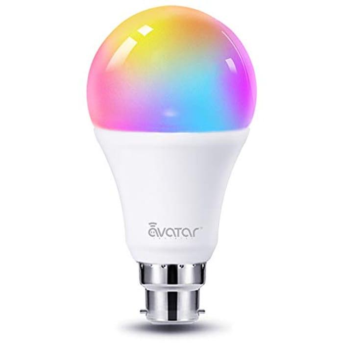 WiFi Smart Bulb Alexa Light Bulbs B22 Bayonet 8W RGBCW Colour Dimmable