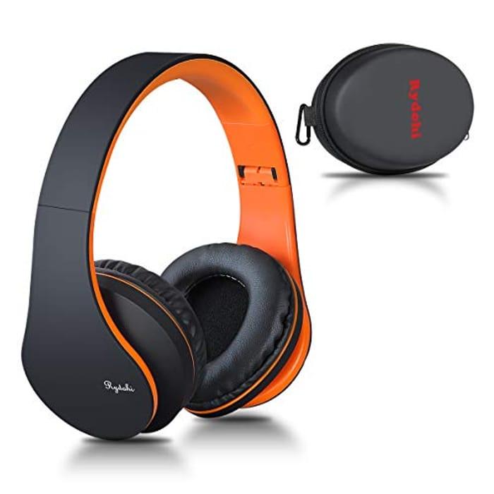 Wireless Bluetooth Headphones over Ear, Rydohi Hi-Fi Stereo Headset