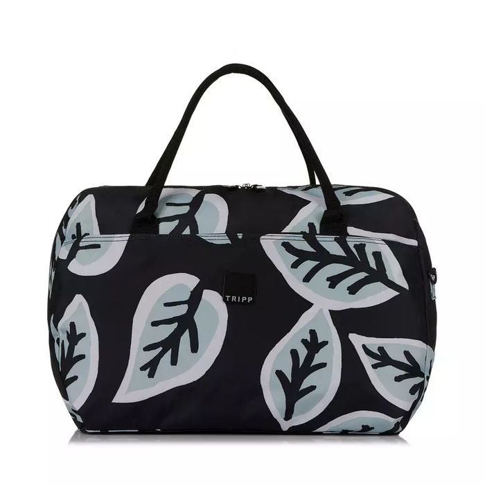 Tripp Ice Blue/Black 'Bold Leaf' Large Holdall - save £20