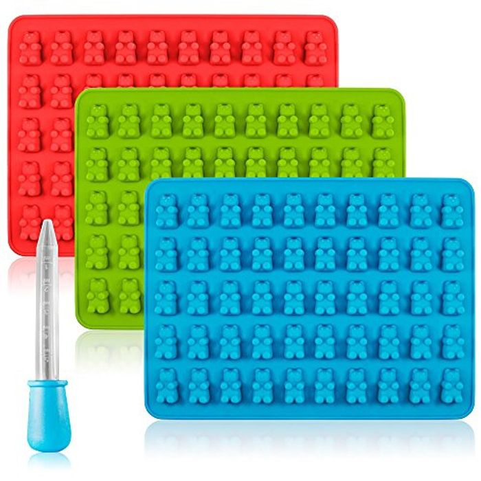 Candy Silicone Molds & Ice Cube Trays, 3 Pack