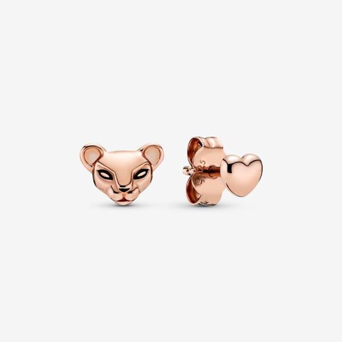 Lioness & Heart Stud Earrings - 45% Off!