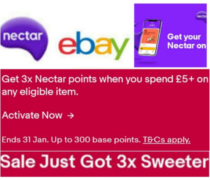 Get 3x Nectar Points When You Spend £5+ on Any Eligible Item.