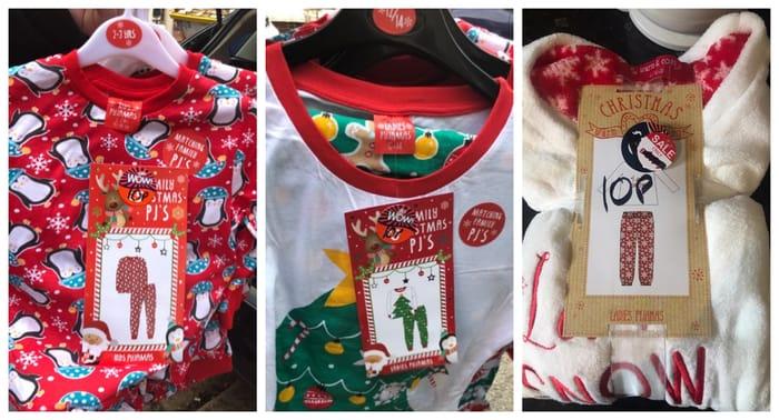Kids / Adult Christmas Pyjamas Just 10p / Christmas Cards Just 10p
