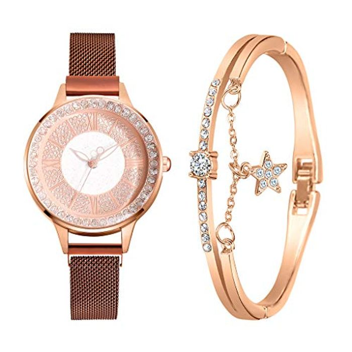 80% off Bangle Watch Bracelet Set for Women Girls £4.99