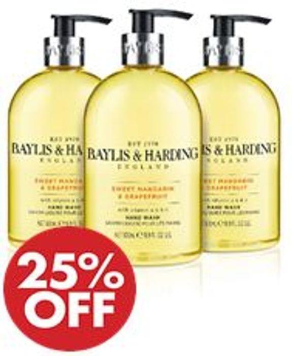 Baylis & Harding Sweet Mandarin & Grapefruit Hand Wash, Pack of 3